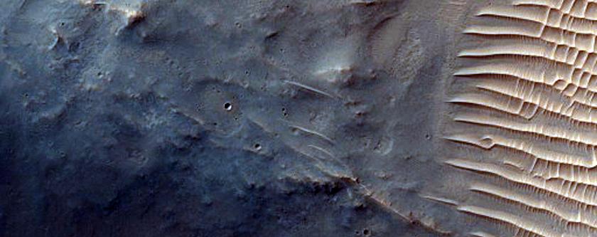 Crater with Central Peak Within Schroeter Crater