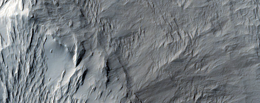 Butte with Slope Streaks