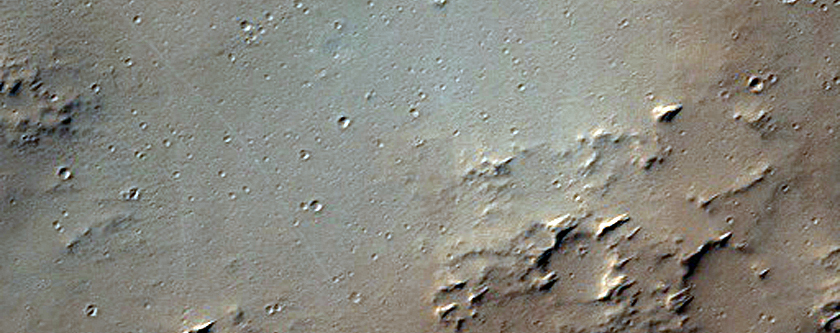Kipuka of Older Material in Eastern Tharsis Region
