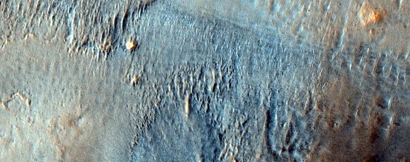Ejecta From Davies Crater in Acidalia Planitia