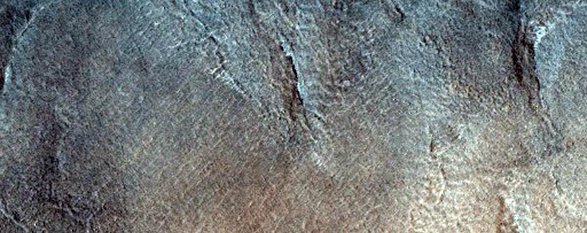 Crater in Acidalia Colles