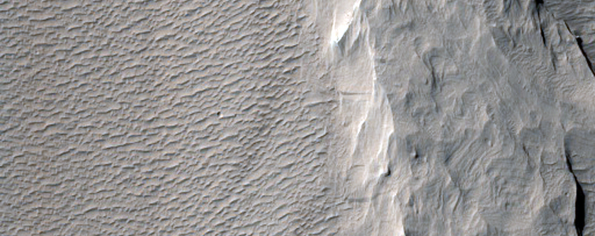Yardang-Forming Material in South Amazonis Region