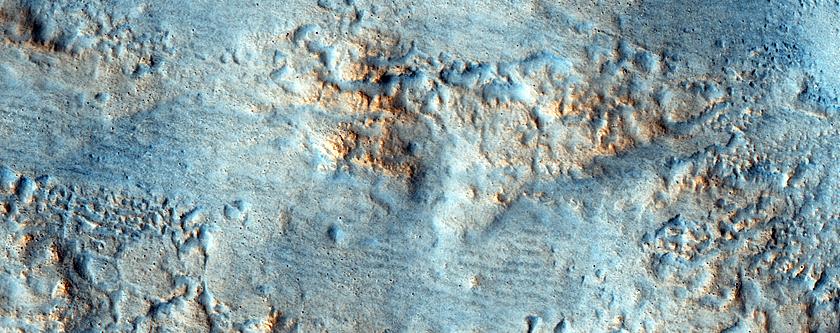 Crater Ejecta in Acidalia Planitia
