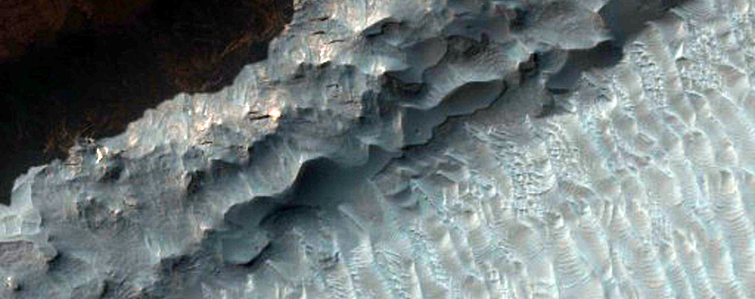 High Albedo Materials in Ganges Chasma