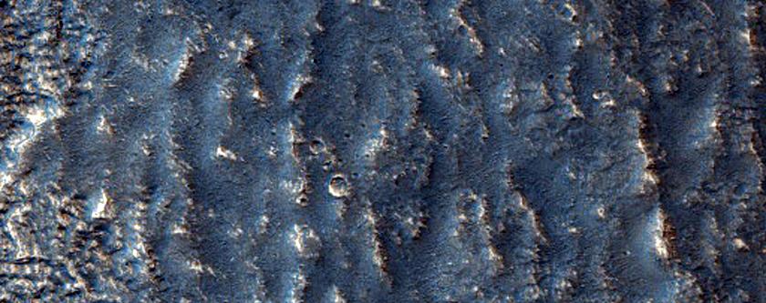 Depressions near Head of Hrad Vallis