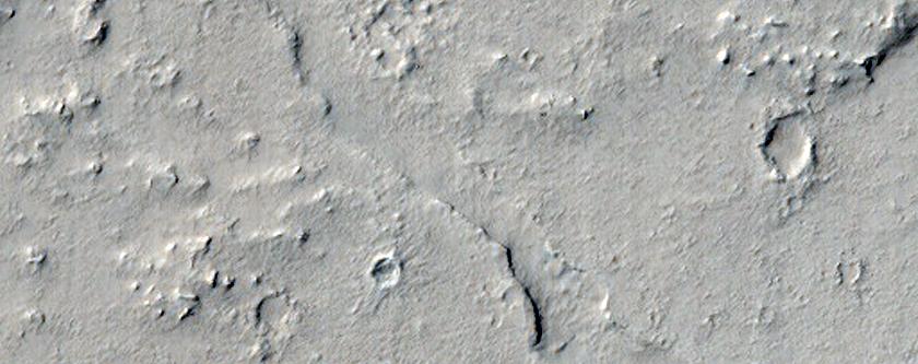Craters in Marte Vallis