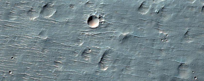 Landslide in Crater