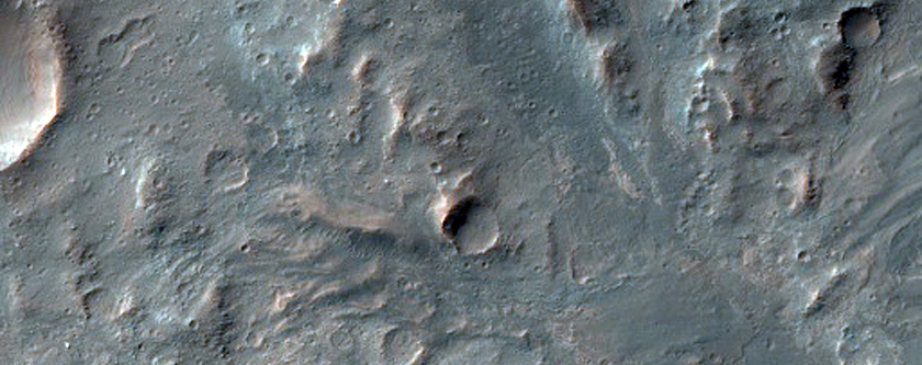 Light-Toned Materials on Floor of Coprates Chasma