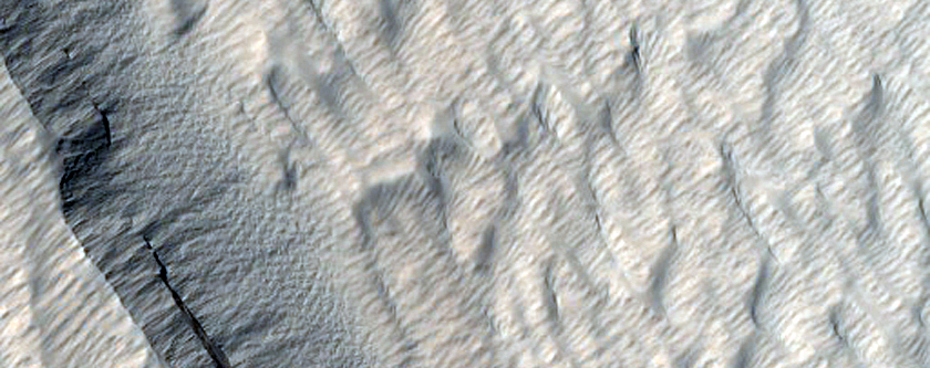 Layered Material in the Medusae Fossae Formation