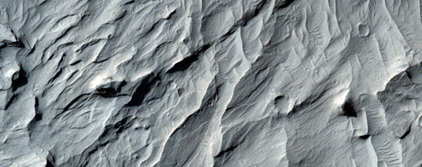 Layered Terrain in Aeolis and Zephyria Regions