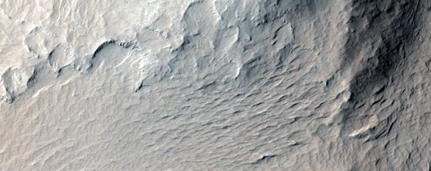 Blocks in Olympus Mons Aureole