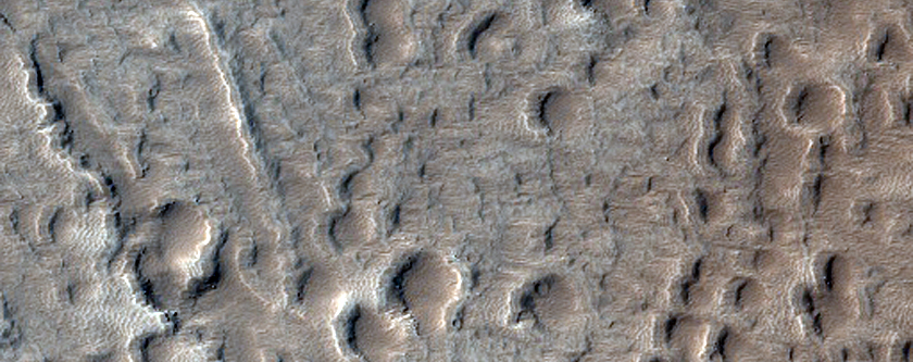Lava Channel on the North Flank of Ascraeus Mons