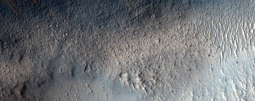 Chryse Planitia Layering in Cairns Crater near Viking 1 Landing Site