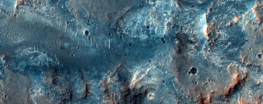 Contact between Platy-Ridged Floor and Wall of Kasei Valles