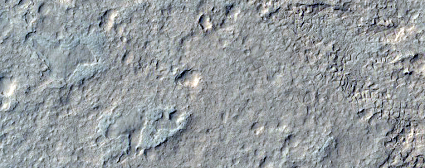 Possible MSL Landing Site in Gale Crater