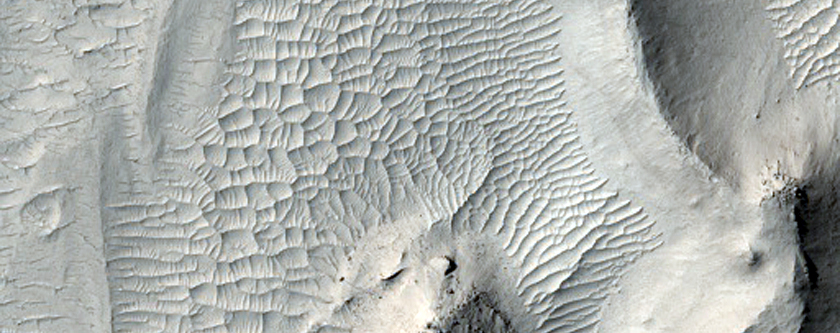Layered Terrain in Aeolis Planum