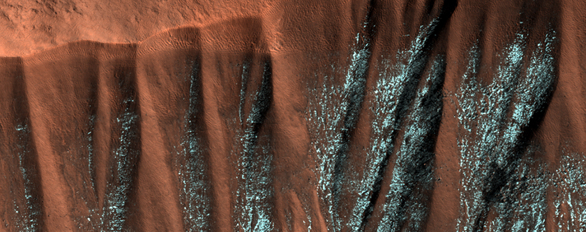 Frosted Gullies in the Northern Summer