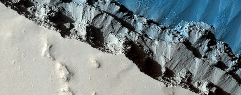 Head of Athabasca Valles at Cerberus Fossae