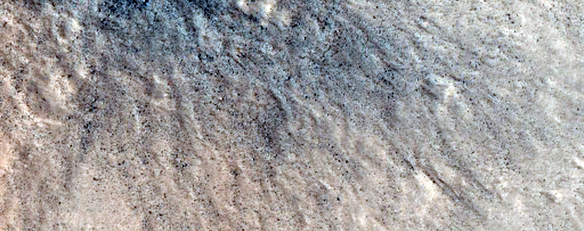 Fresh Crater North of Tharsis Region