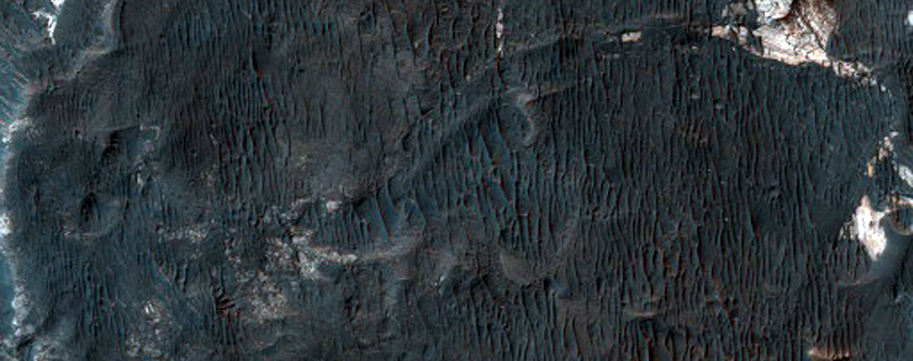 Flood-Emplaced Blocks in Holden Crater