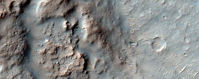 Spirit Landing Site in Gusev Crater