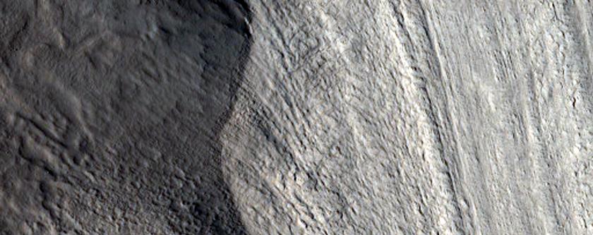 Possible Glacier on Mesa Wall in Protonilus Mensae
