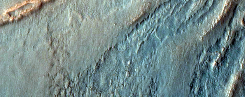Channel and Fan in Lyot Crater