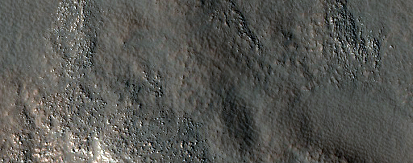 Diverse Lithologies in Central Uplift of Stokes Crater