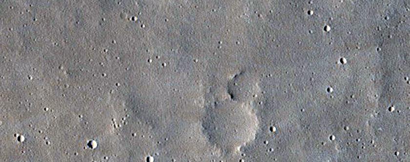 Un cratere che sta scomparendo