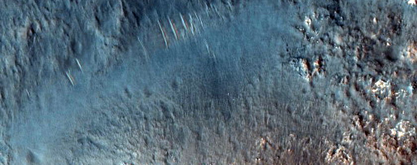 Central Peak of Davies Crater