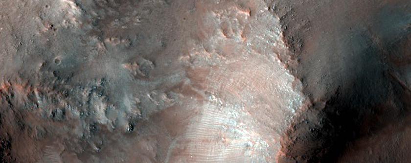 Central Uplift in Baldet Crater