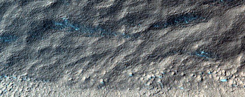 Glacial Cirque-Like Feature near Hellas Planitia