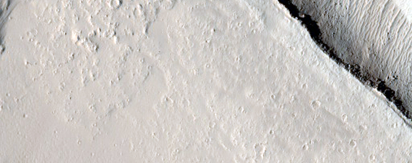 Fracture Cutting Lava Flow East of Olympus Mons