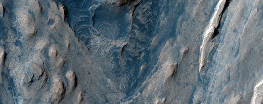 Lower Northwest Portion of Mound in Gale Crater