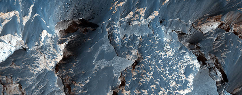 Layering in Central Candor Chasma