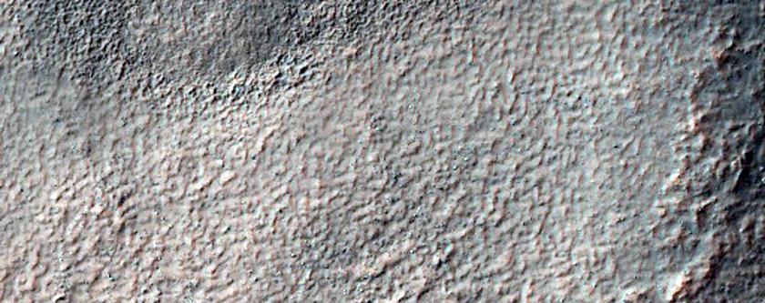 Hollows on Floor of Crater in Terra Sirenum