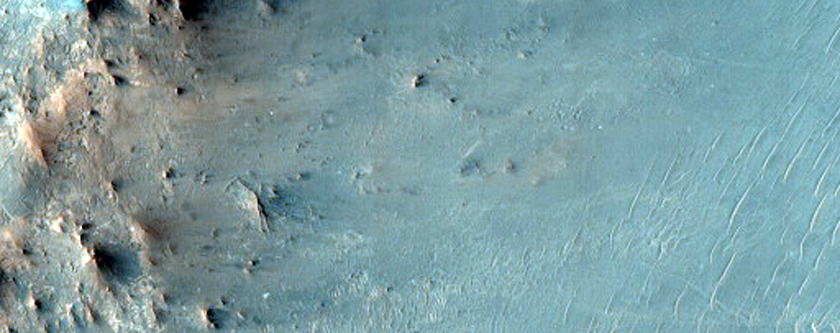 Central Uplift of Impact Crater in Syrtis Major