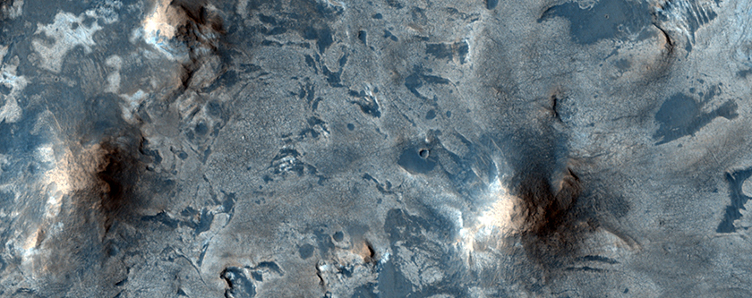 Bright Layers North of Meridiani Planum