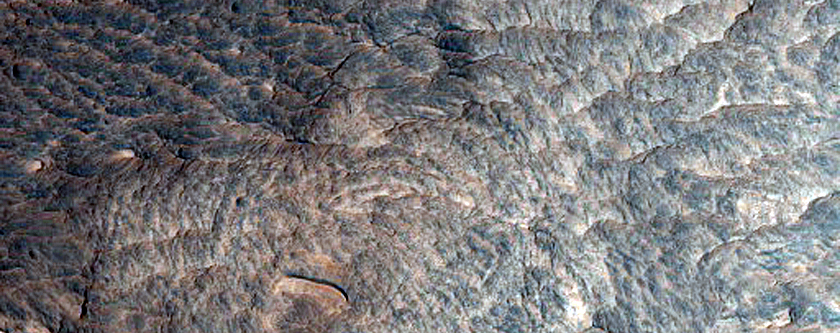 Possible Sulfate Layered Stratigraphy in Ophir Region