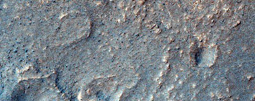 Mound in Hellas Planitia