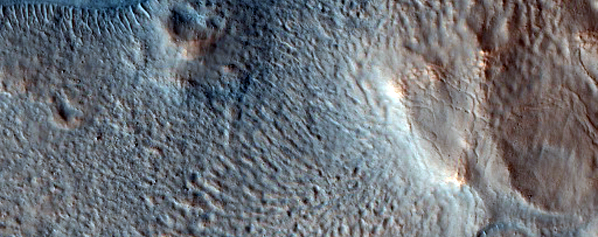 Polygonal Fractured Terrain in Cydonia Labyrinthus