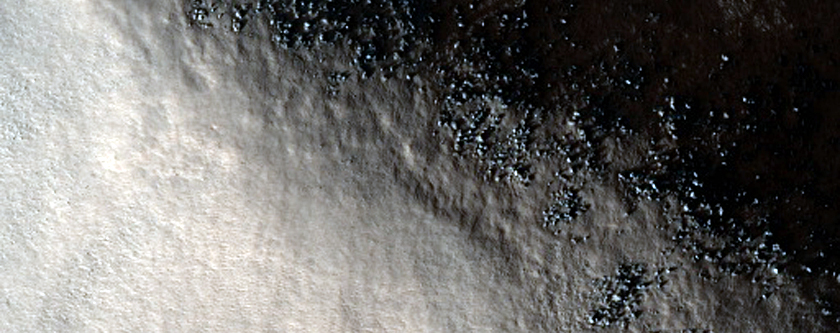 Crater Rim North of Tempe Terra