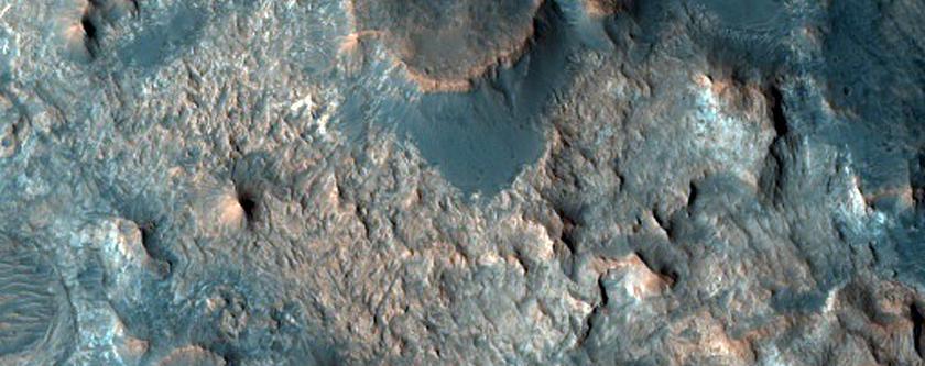 Layering in Mawrth Vallis Crater