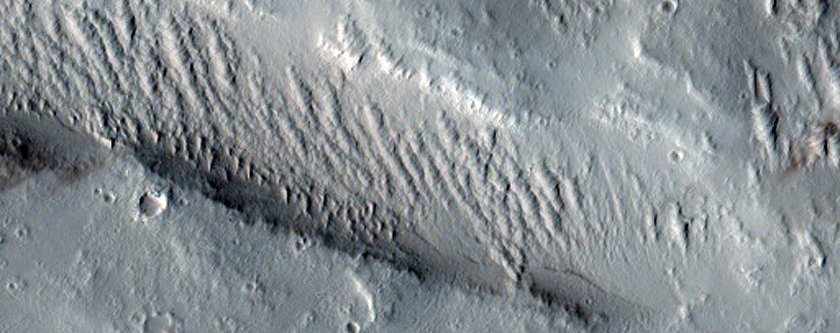Small Volcano Surrounded by Larger Flows in THEMIS V13584008