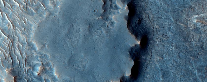Topographie inversée près de Juventae Chasma