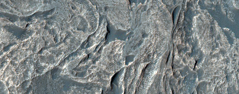 Paisley Terrain in Valles Marineris