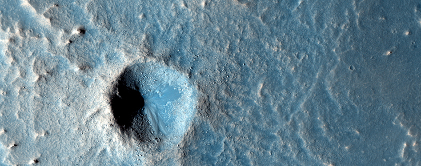 Distinctive Rayed Impact Crater in Meridiani Planum