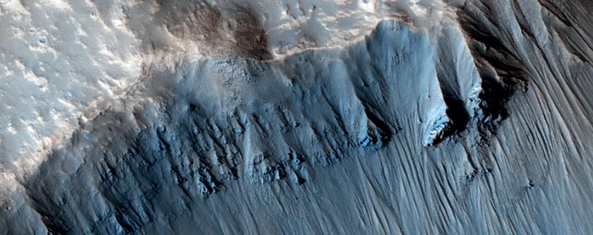 Elliptical Impact Crater