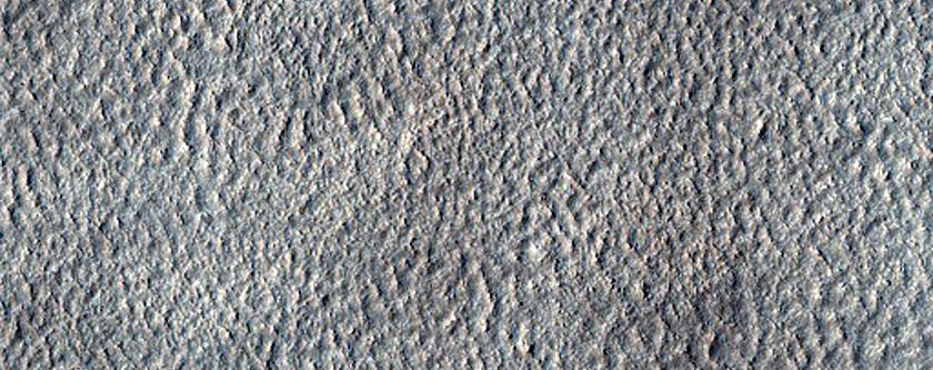 Contact between Mantle Terrain and Rockier Basement