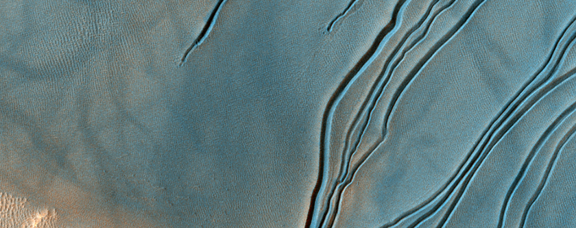 Mudanças em Dunas na Cratera Russell